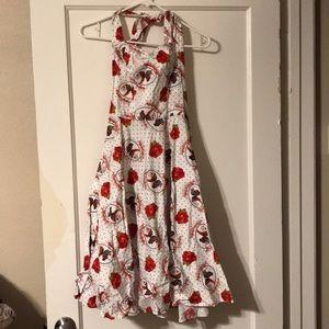 White polka dot pin-up dress